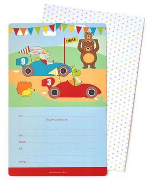 Racing Car Invitation - Bickiboo Designs