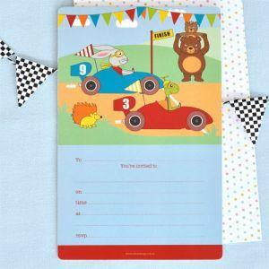 Racing Car Invitation - Bickiboo Party Supplies