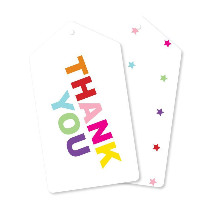 d79a360d94b Rainbow Thank You Gift Tag - Pack of 10 - Bickiboo Party Supplies