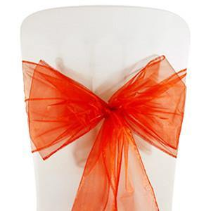 Red Organza Chair Sashes (pack of 5)
