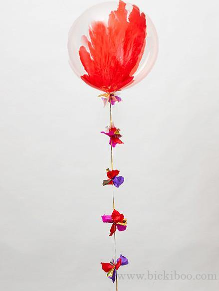 Red Hand Painted Giant Balloon in a Box - Free Shipping