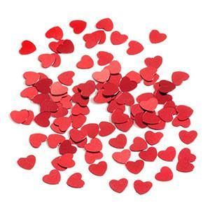 Red Heart Table & Invite Confetti - Bickiboo Party Supplies