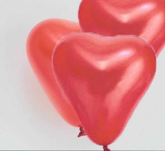 Red Mini Heart Balloons - 15cm (4 pack)