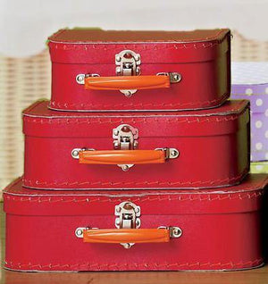 Red Euro Suitcases - Bickiboo Designs