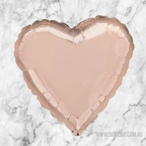 Rose Gold Foil 45cm Heart Balloon