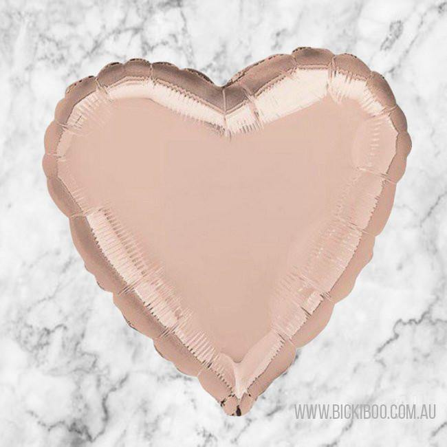 Rose Gold Foil 45cm Heart Balloon - Bickiboo Designs