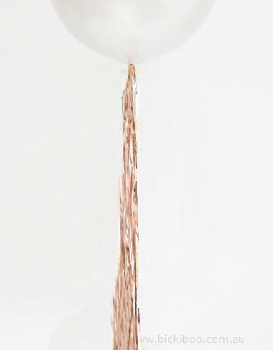 Balloon Tassel Garland - Rose Gold Shimmer Foil Tail