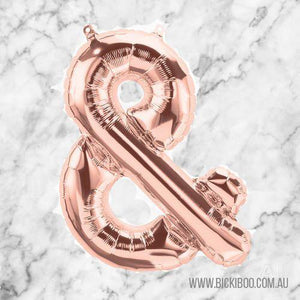 Rose Gold Foil Ampersand Balloon 40cm - Bickiboo Designs