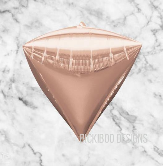 Rose Gold Diamondz Balloon - Bickiboo Designs