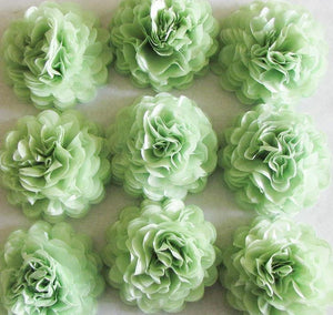 Sage Green Button Mums Tissue Paper Flowers - Bickiboo Designs