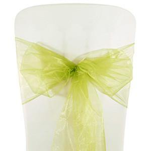 Sage Organza Chair Sashes (pack of 5) - Bickiboo Party Supplies