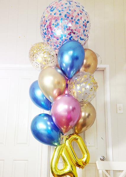 chrome Balloons Bouquet