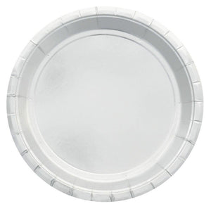Silver Foil Large Party Plates (10 pack) - Bickiboo Designs