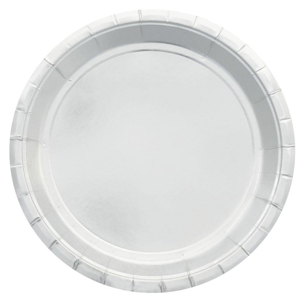 Silver Foil Large Party Plates (10 pack)