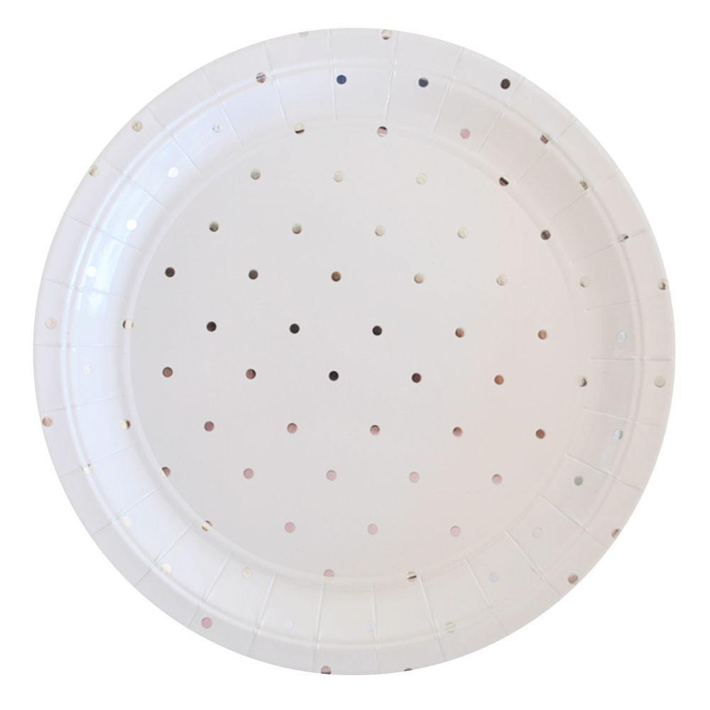 Silver Spots Large Party Plates (10 pack)
