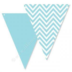 Chevron Blue Party Buntings - Bickiboo Party Supplies