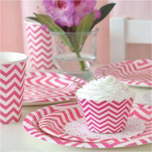 Chevron Hot Pink Party Cup - Bickiboo Party Supplies