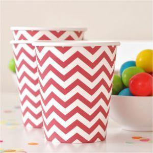 Chevron Red Party Cup - Bickiboo Designs