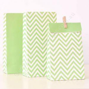 Chevron Green Party Bag - Bickiboo Party Supplies