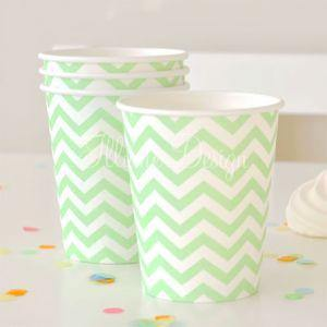 Chevron Green Party Cup - Bickiboo Party Supplies