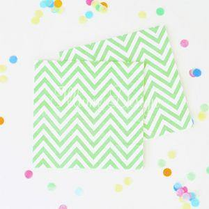 Chevron Green Napkins - Pack of 20 - Bickiboo Party Supplies