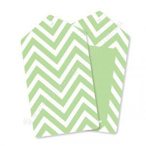Chevron Green Gift Tag - Pack of 12 - Bickiboo Party Supplies