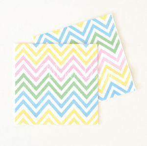 Chevron Pastels Napkins - Pack of 20 - Bickiboo Party Supplies