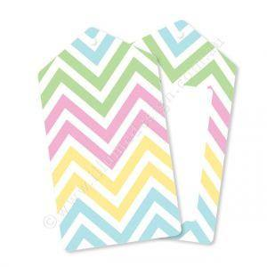 Chevron Pastels Gift Tag - Pack of 12 - Bickiboo Party Supplies