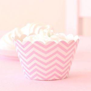 Chevron Pink Large Party Plate