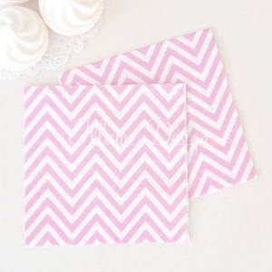 Chevron Pink Napkins - Pack of 20 - Bickiboo Designs