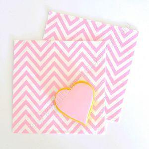 Chevron Pink Napkins - Pack of 20 - Bickiboo Party Supplies