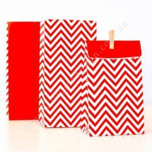 Chevron Red Party Bag - Bickiboo Designs