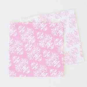 Damask Pink Napkins - Pack of 20 - Bickiboo Party Supplies