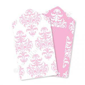 Damask Pink Gift Tag - Pack of 12 - Bickiboo Party Supplies