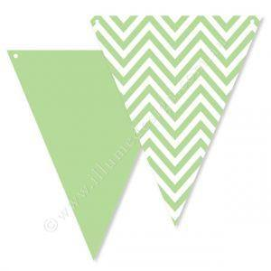 Chevron Green Party Buntings - Bickiboo Party Supplies