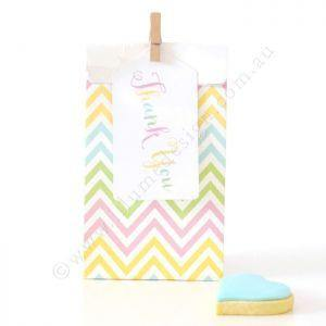 Chevron Pastels Party Bag - Bickiboo Party Supplies
