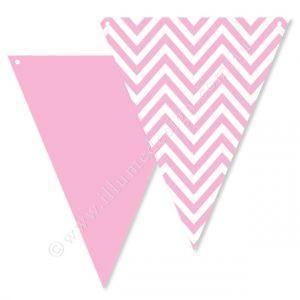 Chevron Pink Party Buntings - Bickiboo Party Supplies