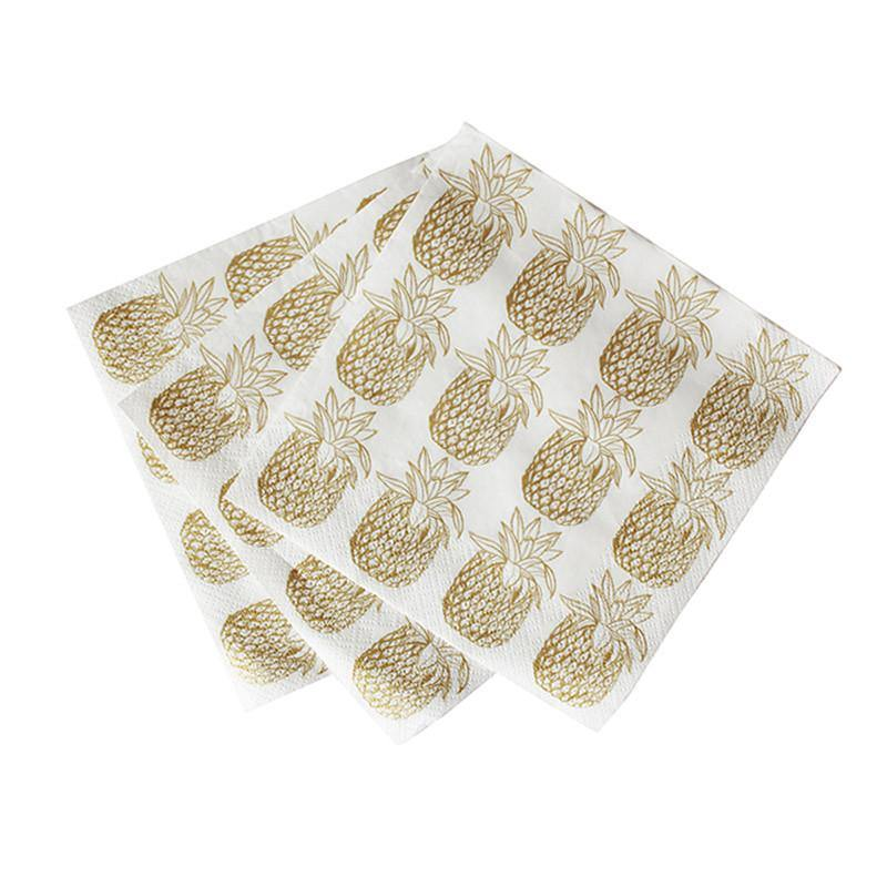 Tropical Pineapple Napkins - Pack of 20