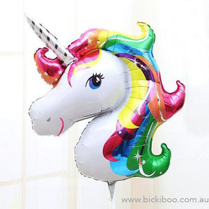 Unicorn Foil Balloon - Bickiboo Designs