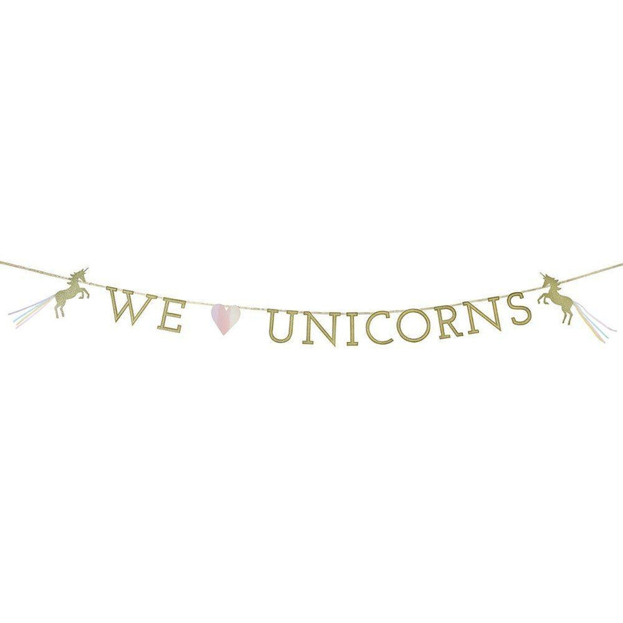 We Heart Unicorn Garland - Bickiboo Designs