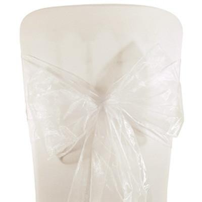 White Organza Chair Sashes (pack of 5) - Bickiboo Designs