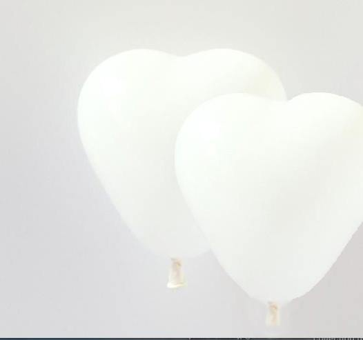 White Mini Heart Balloons - 15cm (4 pack)