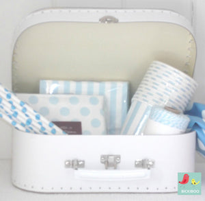 White Euro Suitcases Set of 4