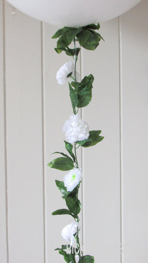 Balloon Tail -  White Peony Garland - Bickiboo Designs