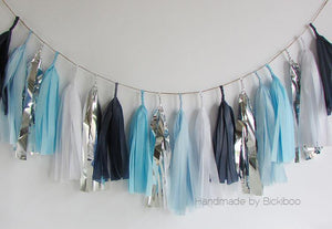 Tissue Paper Tassel Garland - Winter Breeze - Bickiboo Designs