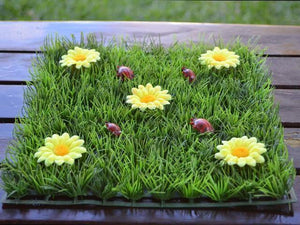 Yellow Daisy Grass Table Mats