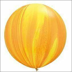 Yellow Orange Marble 76cm Balloon - UN-INFLATED - Bickiboo Designs