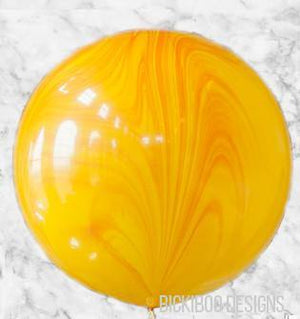 Yellow Orange Marble 76cm Balloon - UN-INFLATED