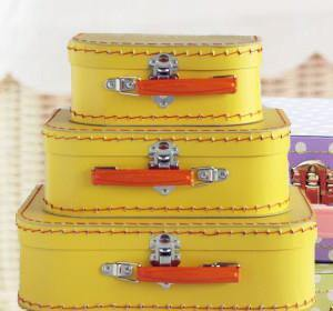 Yellow Euro Suitcases - Bickiboo Designs