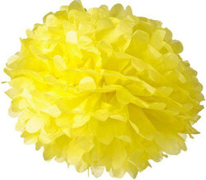 Yellow Tissue Paper Pom Poms